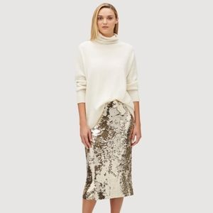 Lafayette 148 NY Sequined Skirt 10 NWT